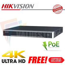 Hikvision 8 Channel Ultra HD 4K UHD Network NVR 12MP 8PoE 8CH CCTV Recorder NEW