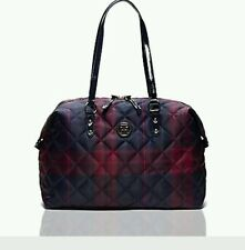 Sold Out $118 NWT Tommy Hilfiger Quilted check plaid weekender travel Pinot Noir