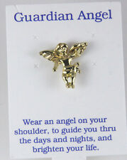 6030275 Guardian Angel Lapel Pin Brooch Tack Pin Christian Religious Jewelry