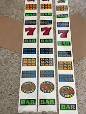 IGT Used Splus slot machine - TRIPLE TRIPLE TRIPLE - REEL STRIPS