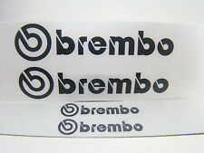 SET OF 2x 105mm and 2x 40mm BREMBO SUBARU BLACK CALIPER DECALS STICKER HIGH TEMP