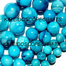 CRAZY LACE BRIGHT BLUE AGATE BEADS 6MM ROUND BEAD DARK LIGHT BLUES MIX