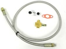 """UNIVERSAL RACING 36"""" 4AN TURBO OIL FEED HOSE LINE FITTING KIT T3 T4 B"""