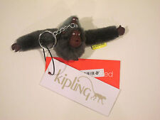 "NEW KIPLING SMALL Mother ""Pascaline"" & BABY MONKEY KEYCHAIN KEYRING ESPRESSO"