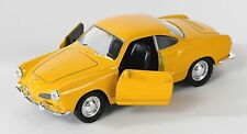 BLITZ VERSAND VW Karmann Ghia Coupe gelb / yellow Welly Modell Auto 1:34 NEU OVP