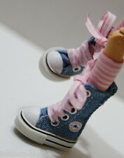 Custom Sneakers Shoes For Blythe/Pullip/Monster High/Lalaloopsy - SN217, Denim