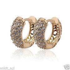 Stile Beautiful 18K Gold Filled Crystal Copper Cubic Zirconia Hoop Earring Women