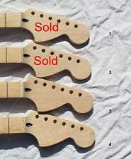 Pro Serviced Full Fretjob Maple CBS Large Headstock Strat Neck Free USA Delivery