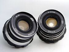 INDUSTAR-61 and INDUSTAR-61 LD Russian RF  Leica L39 fit  two lenses
