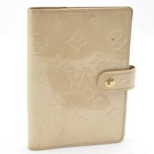 Authentic  Louis Vuitton Vernis Agenda PM Day Planner Cover Beige #S1444 E