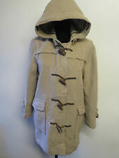Genuine Vintage Burberry Prorsum Brown Wool Duffle Duffel Coat UK 12 Euro 40