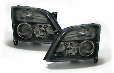 Clear black finish headlights front lights for Opel Vectra C and Signum