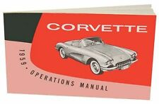 1959 OWNERS MANUAL C1 CORVETTE - OPERATIONS MANUAL - NEW - WE SHIP WORLD WIDE -