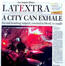 Boston Marathon Bombings Newspaper Los Angeles Times Extra 4/20/2013 Terrorists