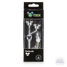 Disney Parks D-Tech Mickey Moues Silver Earbuds Ear Phones Headphones