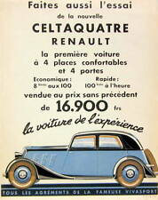 1934 RENAULT CELTAQUATRE CATALOGUE