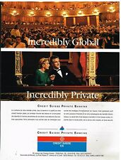 Publicité Advertising 1993 Banque Credit Suisse Private Banking