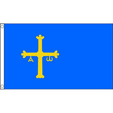 Asturias Flag 5Ft X 3Ft Spain Spanish Region Banner With 2 Eyelets New