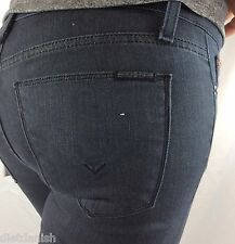Hudson Women's Jeans Pants Mid Rise Super Skinny Inseam 29  Grey Size 24