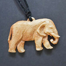 Hand Carved Bone Elephant Necklace Carving Animal Pendant Taxidermy Jewellery