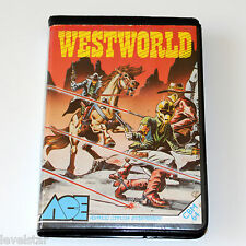 WESTWORLD C64/128 Ace Cased Commodore 64 Game Original Cassette Tape