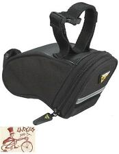 TOPEAK AERO WEDGE MICRO BLACK BICYCLE SEAT SADDLE BAG W/ STRAPS