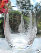"Stuart Crystal Whisky Glass WOODCHESTER 3.5"" High Barrel Tumbler x 1  Signed"