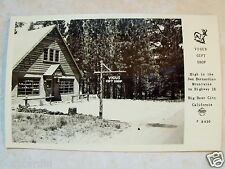RPPC VIGUS GIFT SHOP BIG BEAR CITY, CALIFORNIA! REAL PHOTO UNPOSTED POSTCARD