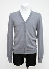 MENS BEN SHERMAN THIN CARDIGAN 100 % MERINO WOOL GREY SIZE M MEDIUM EXC
