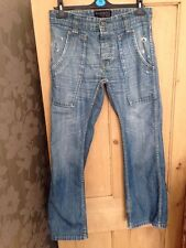 "Mens' Firetrap Blackseal Blue Boot Cut Jeans Waist 30"" Leg 32""R"