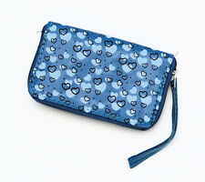 HORSE & WESTERN GIRLS KIDS HEARTS WALLET PURSE BLUE