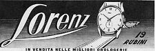 Pubblicità vintage Lorenz orologio uomo donna old advert advertising reklame A5
