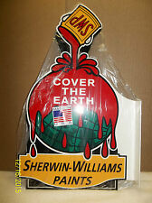 Beautiful 2-Sided Sherwin Williams Flange Sign-Heavy Steel-Great Color and Shine
