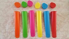 THE TRUSTY BAKER6 pk Silicone Popsicle Mold Ice Pop Maker Ice Cream Mold BPA Fre