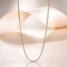 "J.Shou Jewelry 18K Rose Gold Necklace Women & Men O Chain Necklace 17.7""L 1g"