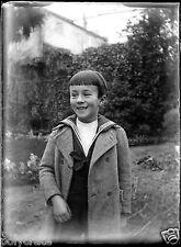 Portrait enfant habillé marin  négatif photo verre photo - an. 1910 20