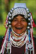 765006 Akha Woman Hilltribe Village Chiang Mai Thailand A4 Photo Print