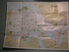 ONTARIO WALL  MAP THE MAKING OF CANADA National Geographic June 1996 MINT