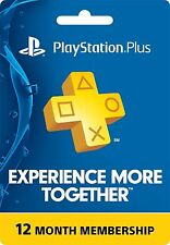 1-Year ( 12-Months ) PlayStation Plus Membership - PS3/ PS4/ PS Vita