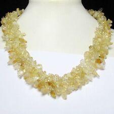 schön Kette 45cm  aus Citrin Splitter Edelstein Perlen