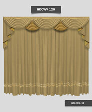 Saaria HDCWV-120 Home Theater Stage Movie Screen Decor Curtains Drapes 7'W x 8'H