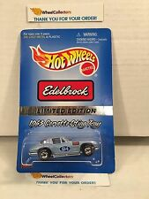 #2  Edelbrock 1963 Corvette Sting Ray Blue * w/ Real Riders * Hot Wheels * H45