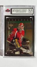 Roberto Luongo 1998-99 Quad Black Diamond Emerald Rookie Card 57/100 Graded 9.5!