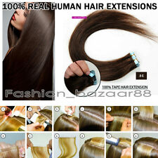 Promotion 18inch Tape In Remy Real Human Hair Extensions Medium Brown 20Pcs 40G