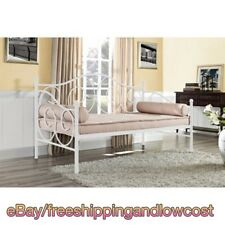 Twin Metal Frame Daybed Contemporary Colors White Living Room Comfort Sturdy