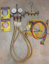 Lot of Ritchie Yellow Jacket HVAC Test And Charging Manifolds