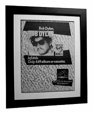 BOB DYLAN+Infidels+POSTER+AD+RARE ORIGINAL 1983+QUALITY FRAMED+FAST GLOBAL SHIP