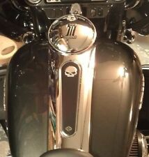 Willie G Raised Skull Console Insert 2008 Up FLHX Street Glide Road Glide Custom