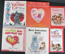 Valentines Day Six Books Lot Paperback 6 PB Softcover Childrens Kids Boys Girls