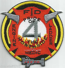 "Indianapolis  Station-4, IN  ""Pride of N. Side""  (3.75"" x 4"" size) fire patch"